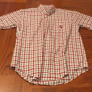 Indiana Hoosiers Short-Sleeve Button-Up